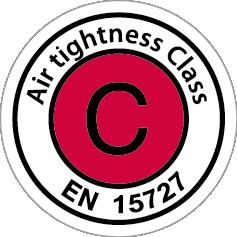 Logo luchtdichtheidsklasse C