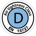 Logo luchtdichtheidsklasse D